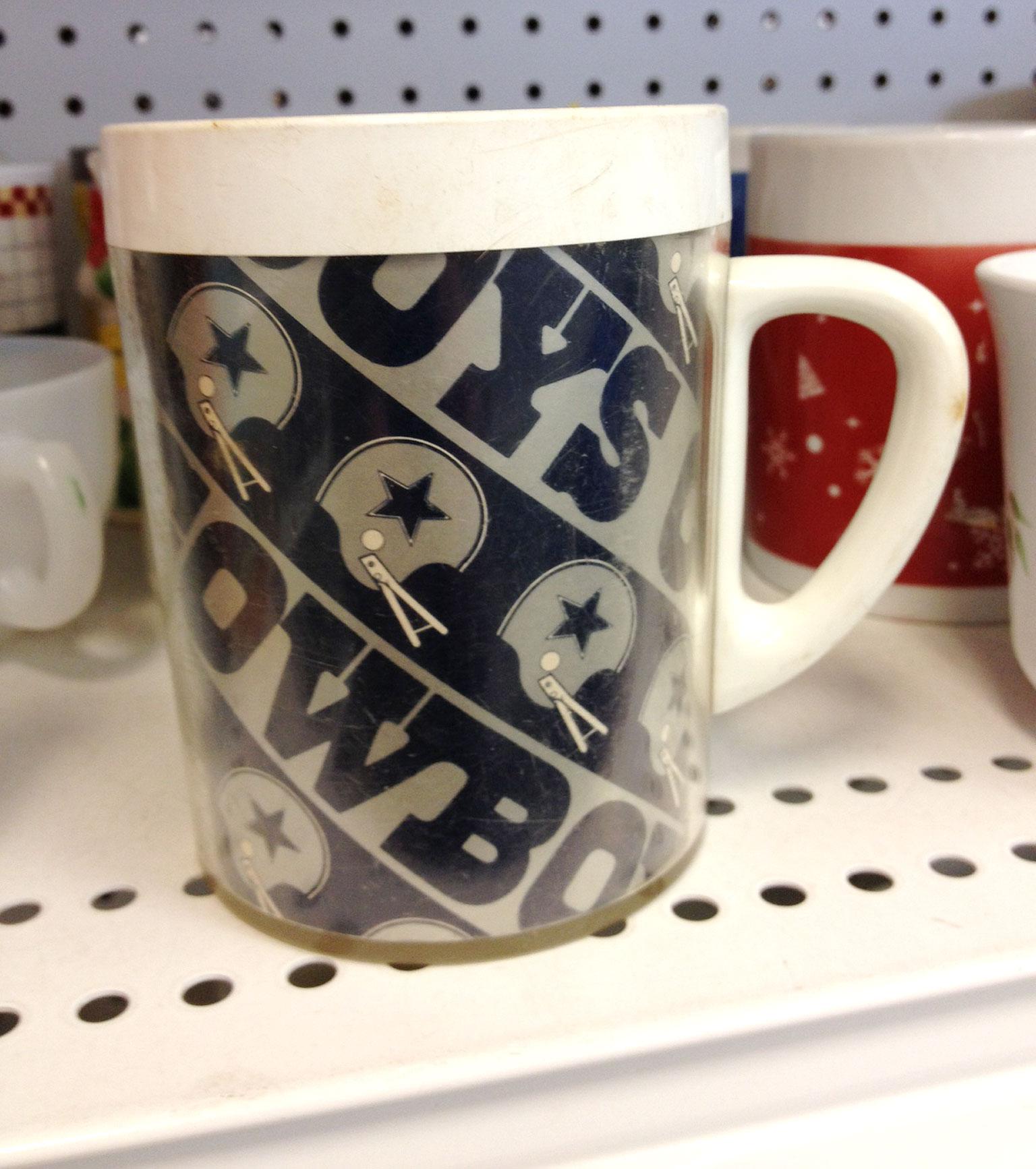 Cowboys mug: $1