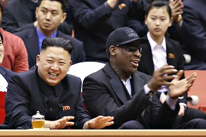 With a partner, going as Dennis Rodman and Kim Jung Un for Halloween is fairly easy to put together: Tattoos, eyeliner, a scarf and piercings for Rodman and a trendy military jacket and bad haircut for the North Korean dictator.