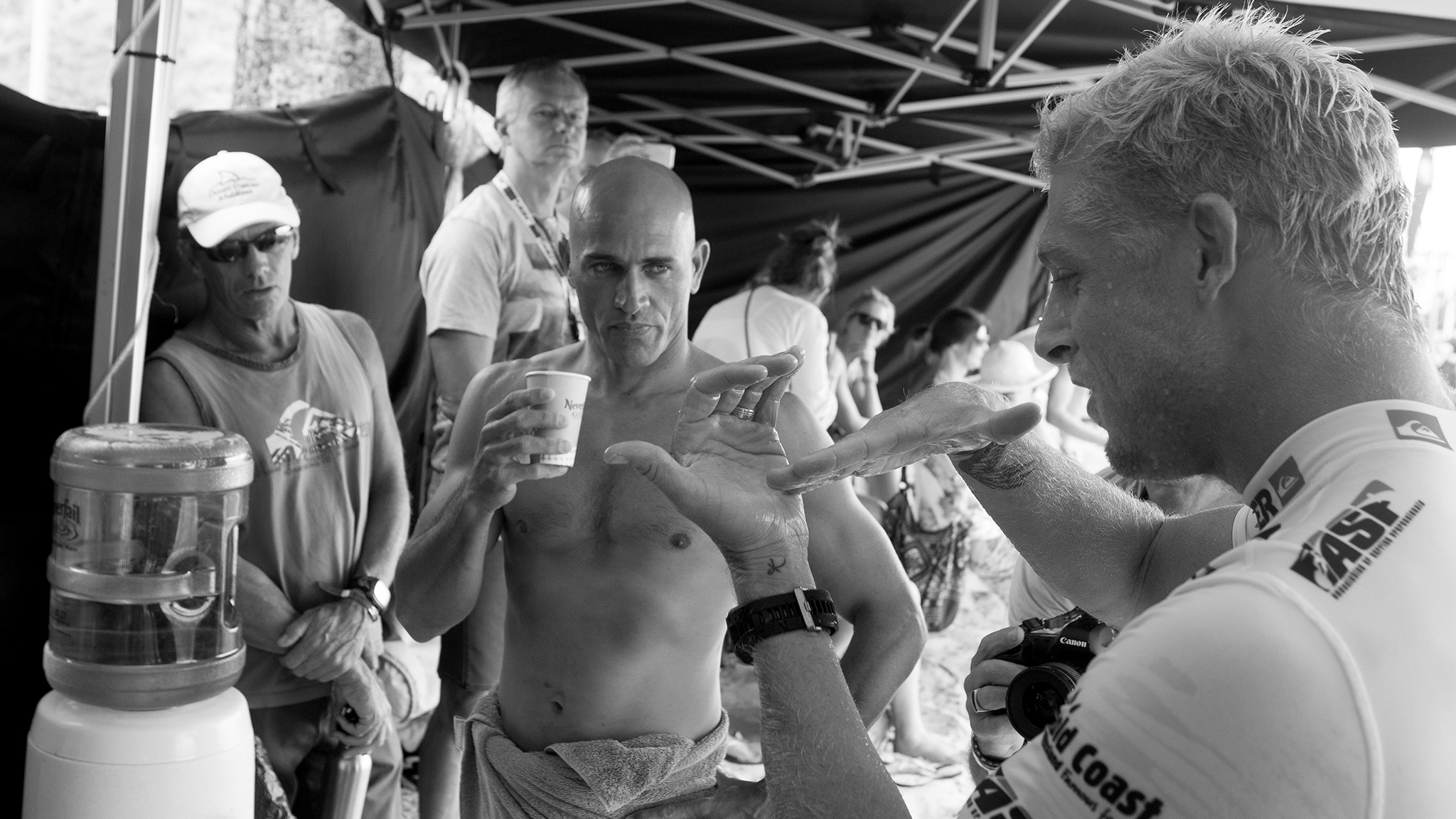 Kelly Slater and Mick Fanning
