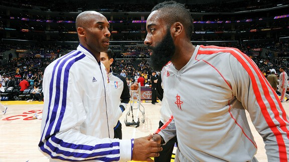 Kobe Bryant and  James Harden