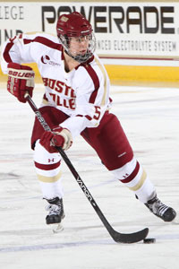 Sophomore Alex Carpenter was named the Hockey East Player of the Year.