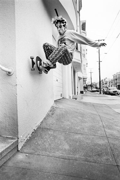 Jim Thiebaud with one of the most classic frontside wallride photos ever. 1986.