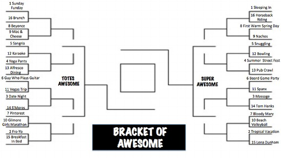 Bracket of Awesome/First round
