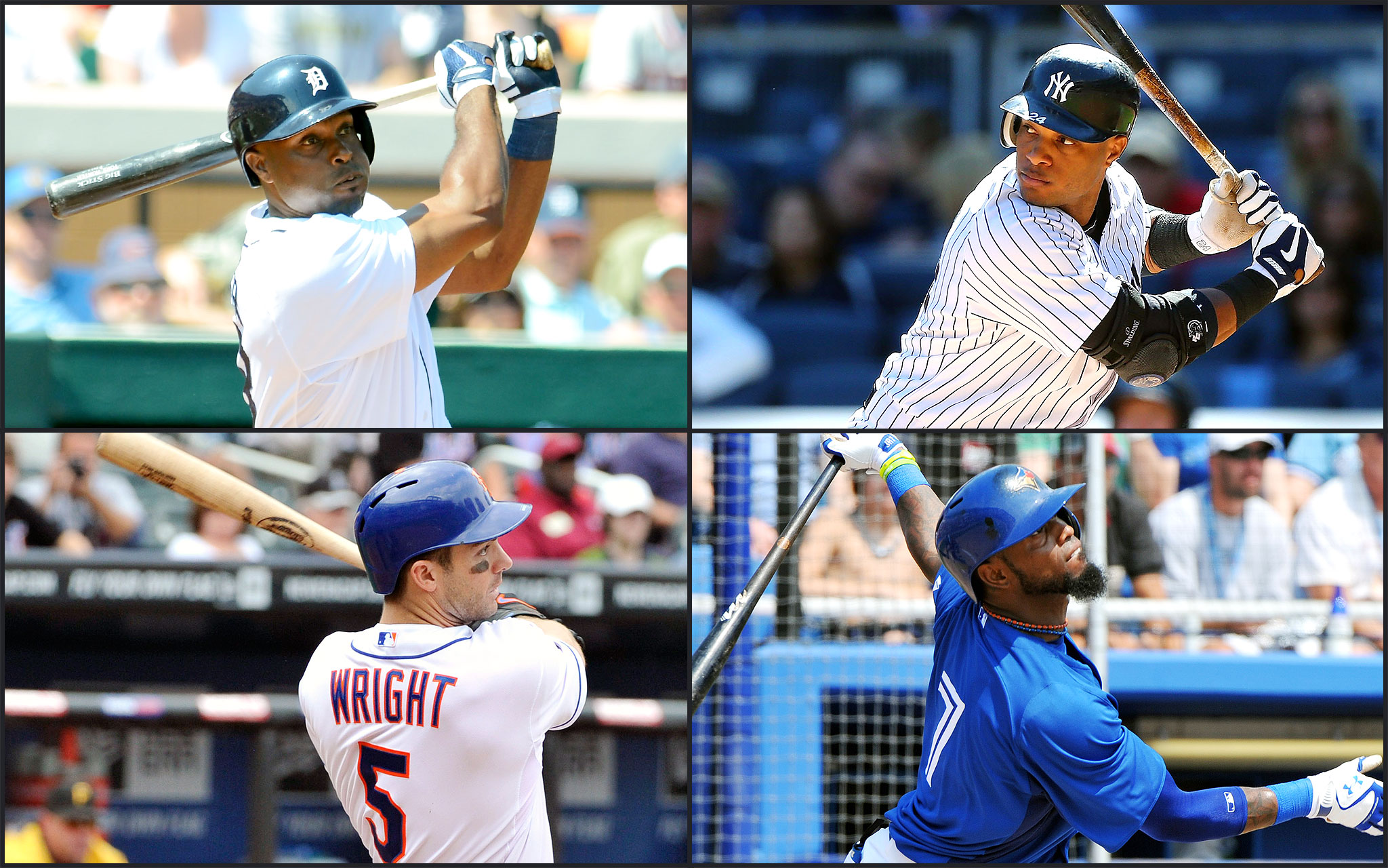 Torii Hunter, Robinson Cano, David Wright, Jose Reyes