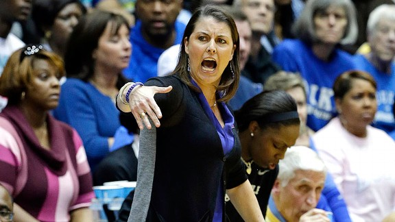 Duke coach Joanne P. McCallie helped her Blue Devils stop Oklahoma State in a second-round game.