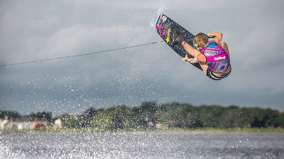 Amber Wing has won four U.S. national championships and two world titles in wakeboarding.