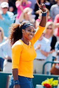 Despite having to play two matches on Friday, and go through sister Venus the following day, Serena Williams rallied for her second straight Family Circle title on Sunday afternoon.