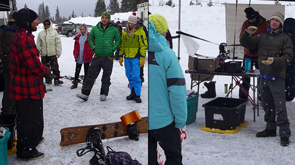 Joe Timlin, in red on the left, and Rick Gaukel, right, were two of the five people caught in the slide on Loveland Pass on Saturday. Both were experienced backcountry travelers.