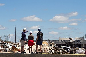 After the tornado passed, students walked out to find large swaths of the city left unrecognizable.