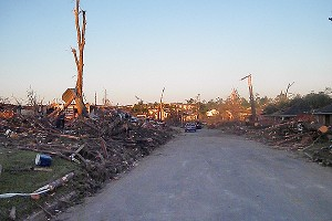 This stretch of Tuscaloosa's Forest Lake neighborhood lay in ruins after the tornado of April 27, 2011.