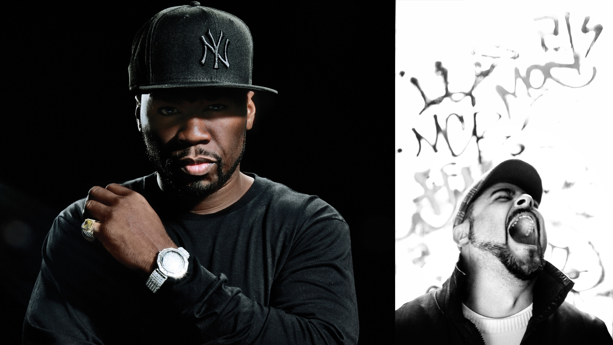 50 Cent (L) and Spanish rapper NACH (R)  will join EDM artist Zedd at X Games Barcelona for the X Games MUSIC showcase.