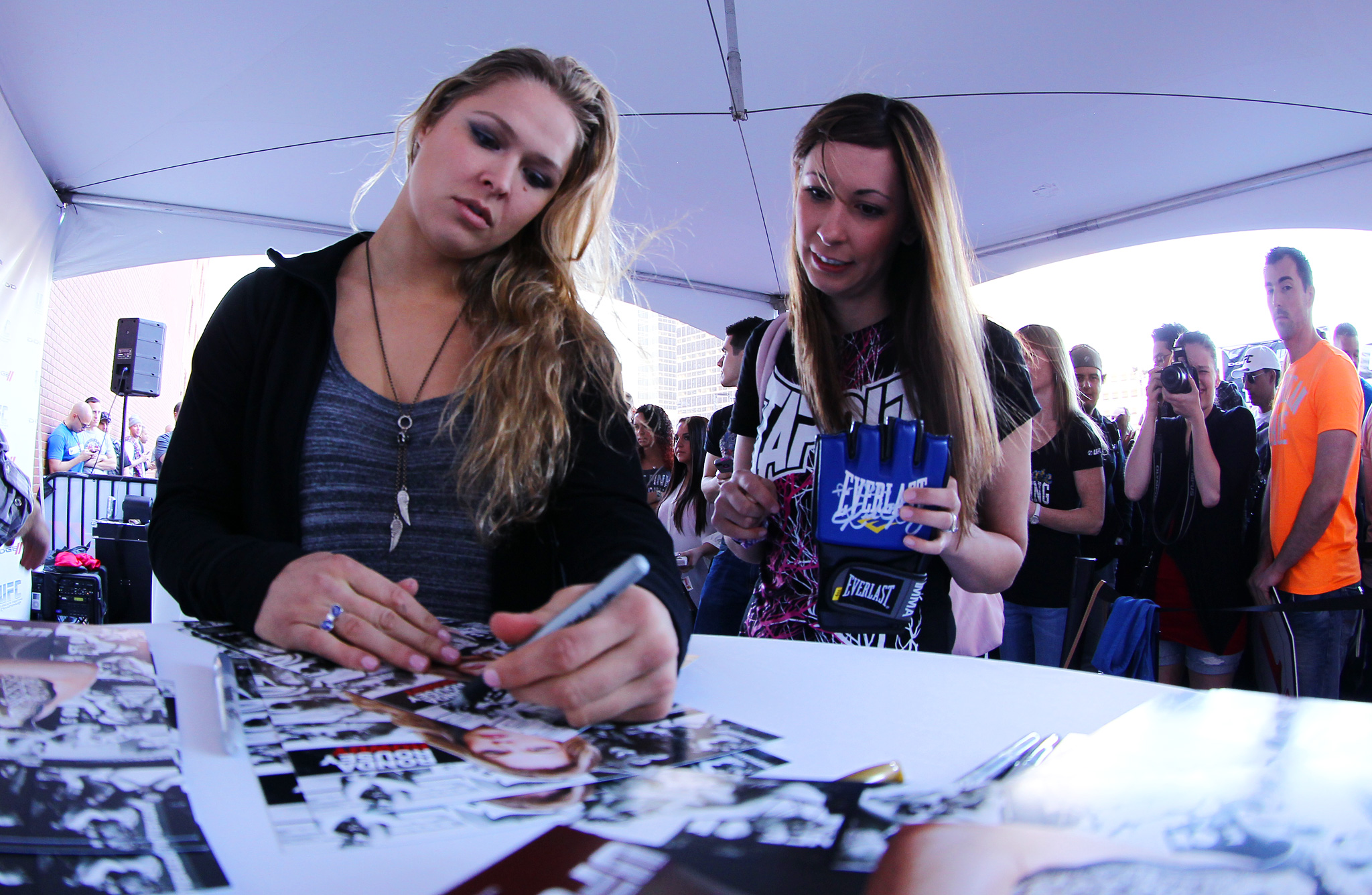 Ronda Rousey with her fans