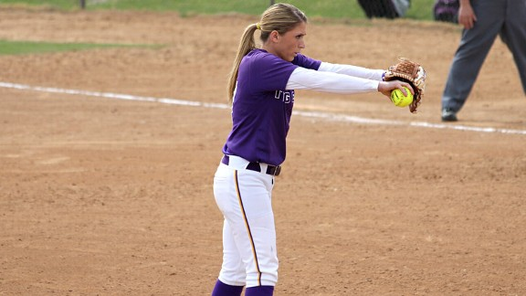 LSU's Rachele Fico became just the fifth pitcher in the past six seasons to record two complete-game wins in a series against Alabama.