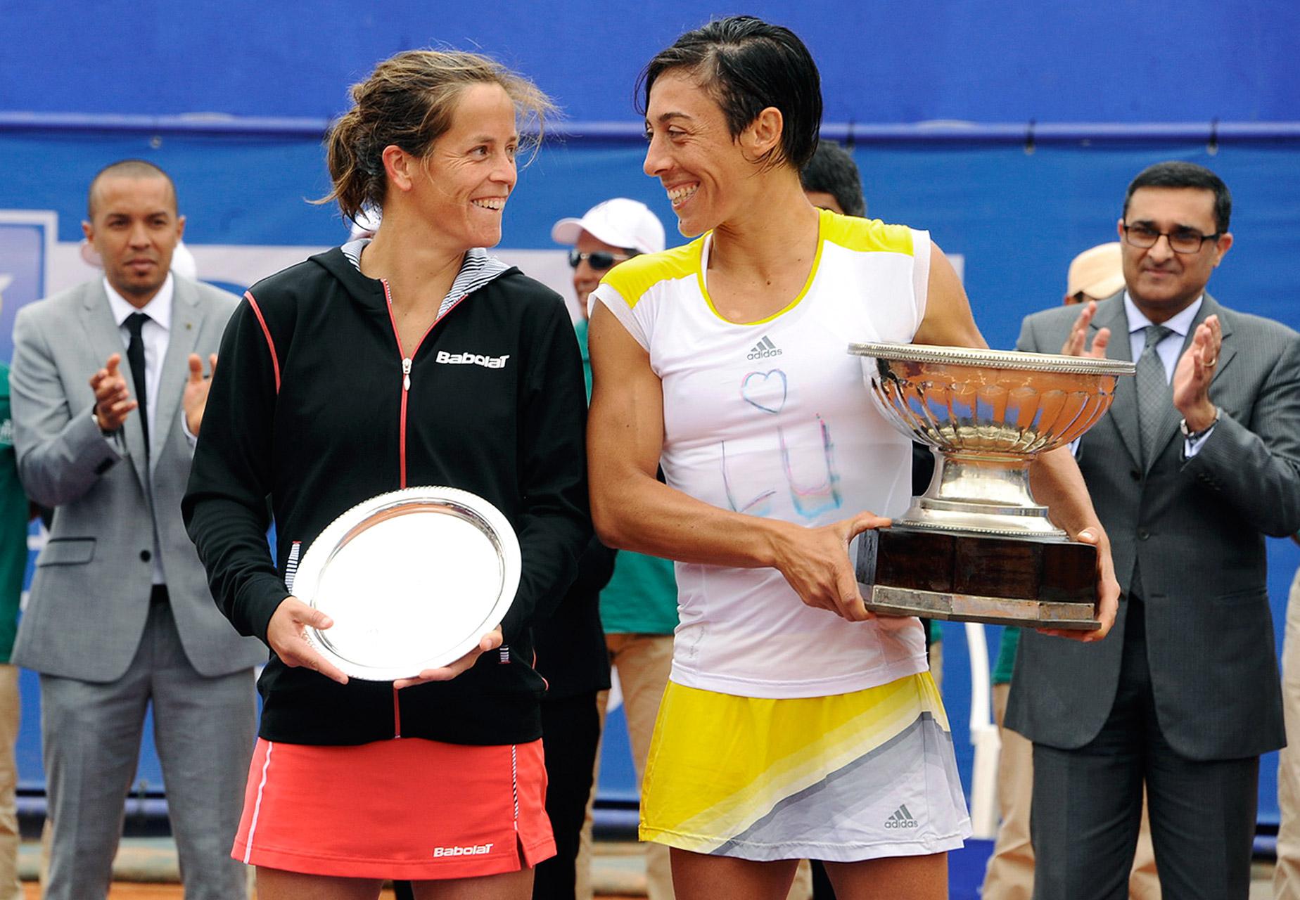 Francesca Schiavone and Lourdes Dominguez Lino