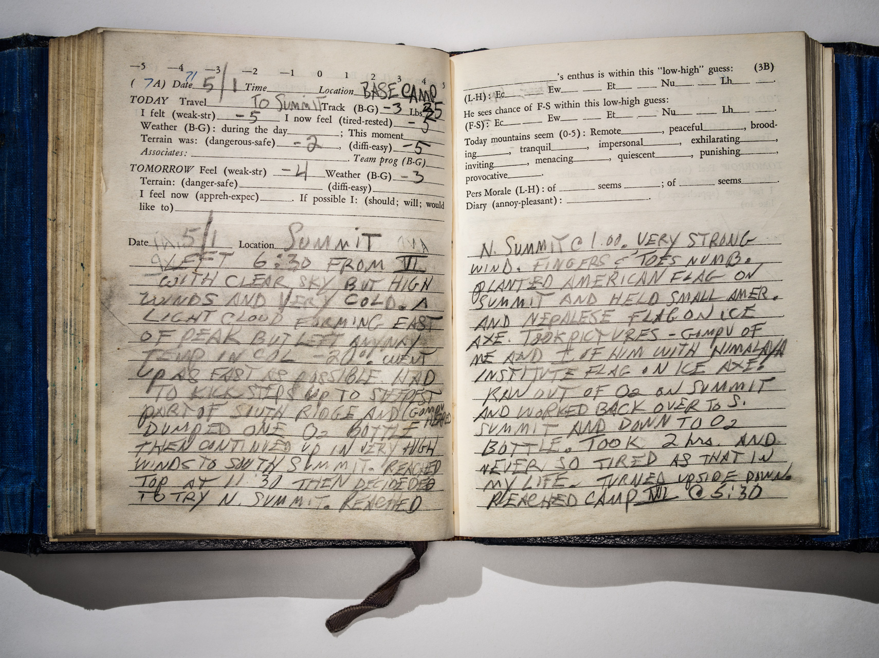 Whittaker's expedition notebook