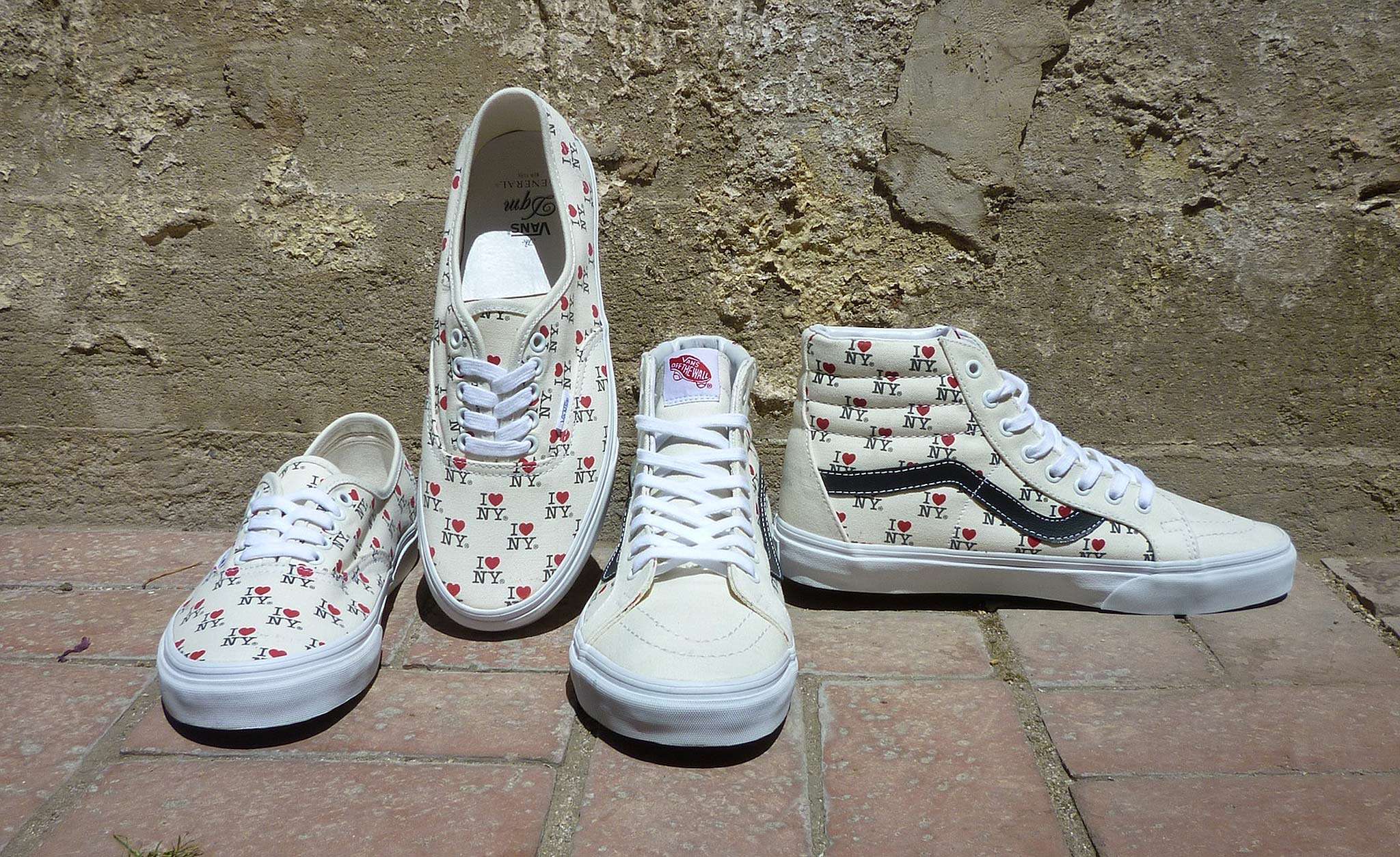 Vans and DQM have released Milton Glaser's iconic I Love NY design on their shoes.