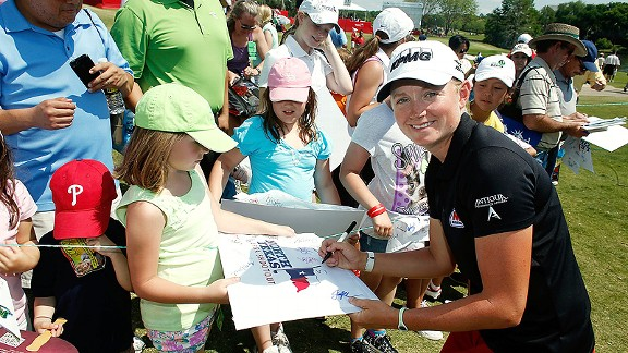 Stacy Lewis has become one of the leaders of the tour, ranking second on the money list and the world rankings.