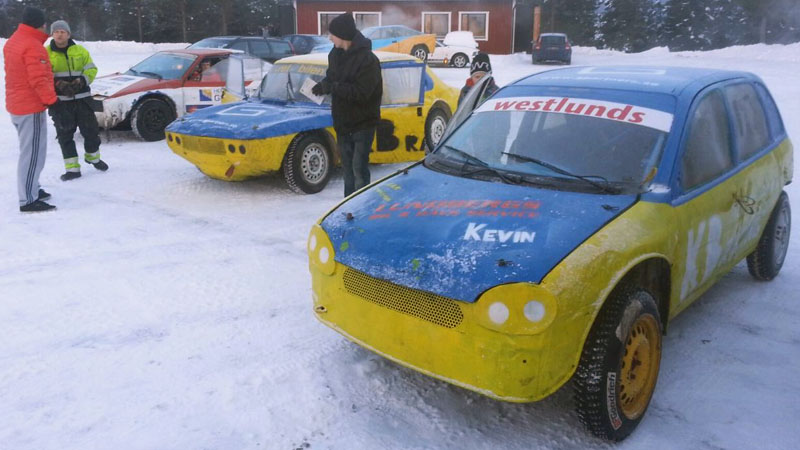 Andreas Eriksson's kids' cars