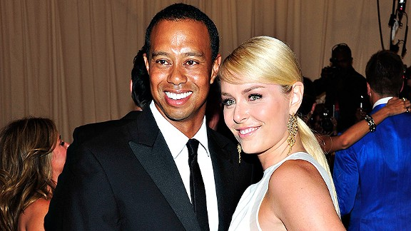 Tiger Woods and Lindsey Vonn made their red carpet debut at Monday night's punk-themed gala at The Met.