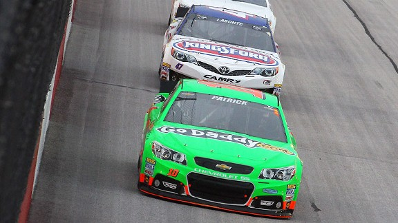 Danica Patrick's crew chief said her lap times were markedly faster in the latter stages of the race, and he was pleased that she completed every lap.