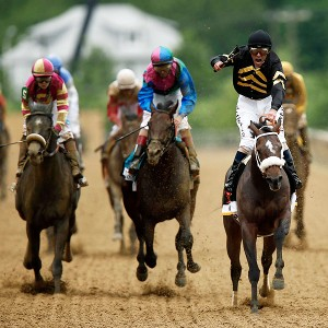 Oxbow held off Itsmyluckyday and Mylute down the stretch Saturday at Pimlico to win the 138th running of the Preakness Stakes.