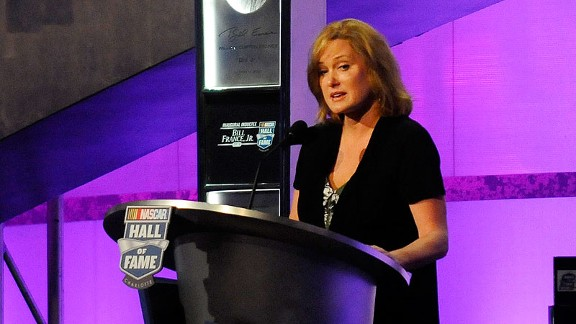 NASCAR's Lesa France Kennedy splits her duties between racing CEO and racing mom.