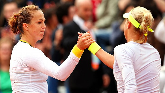 Anastasia Pavlyuchenkova won her first-round match against Andrea Hlavackova on Sunday.