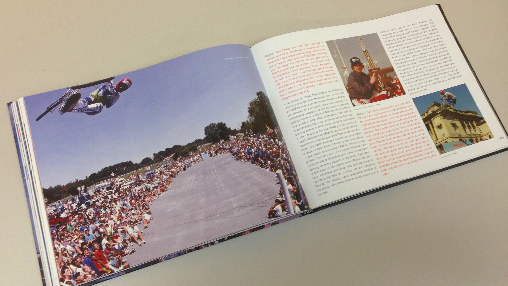 The Rise of BMX Freestyle is a new 144-page hardcover book produced by Haro.