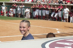 Kepker is a fixture in the Wolverine's dugout whenever she's well enough to be with the team.