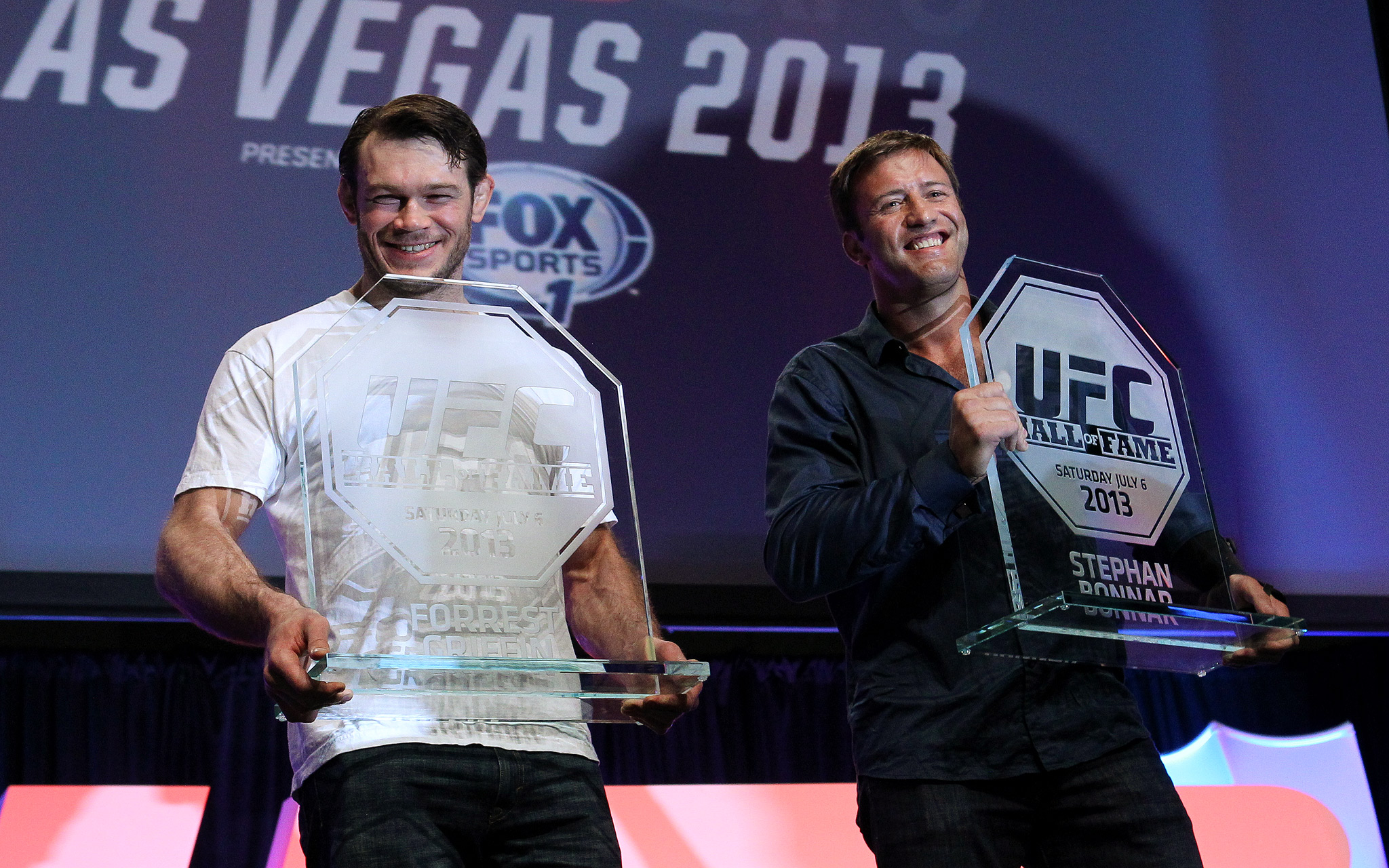 Forrest Griffin and Stephan Bonnar are inducted into the UFC Hall of Fame