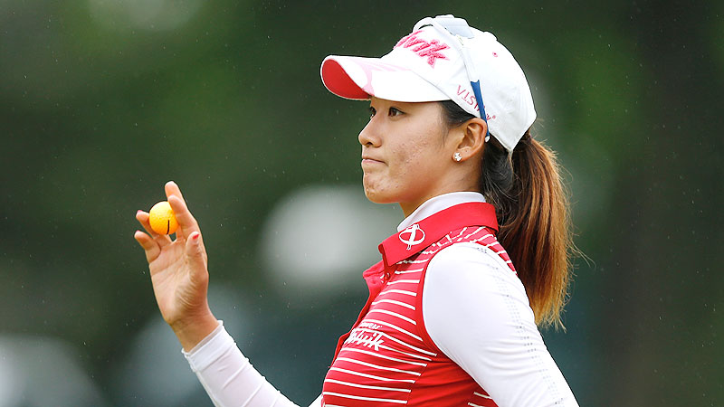 Chella Choi had the best round despite playing in the more difficult conditions Friday afternoon.