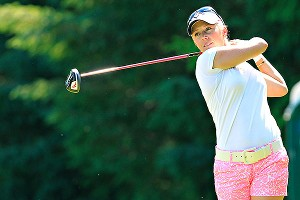 Morgan Pressel got to 9-under par at one point during Sunday's 36 holes, but watched her lead slip away.