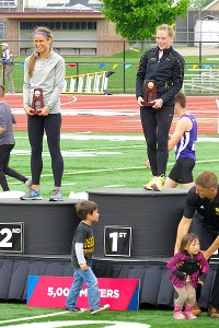 The Cazzola family was all together -- 3-year-old Kaya even made a podium appearance -- at the Division III championships.