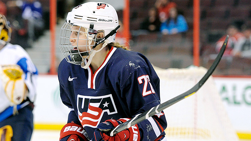 In just two seasons at Northeastern, Kendall Coyne already has reached the 100-point plateau. She will try to earn a spot on Team USA starting Sunday.