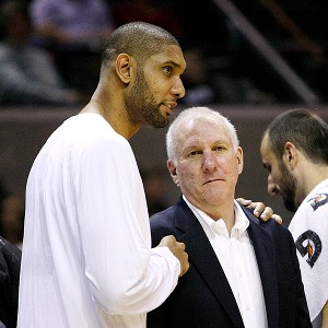 They have grown so close that Gregg Popovich, 64, has said he'll retire when Tim Duncan, 37, does.