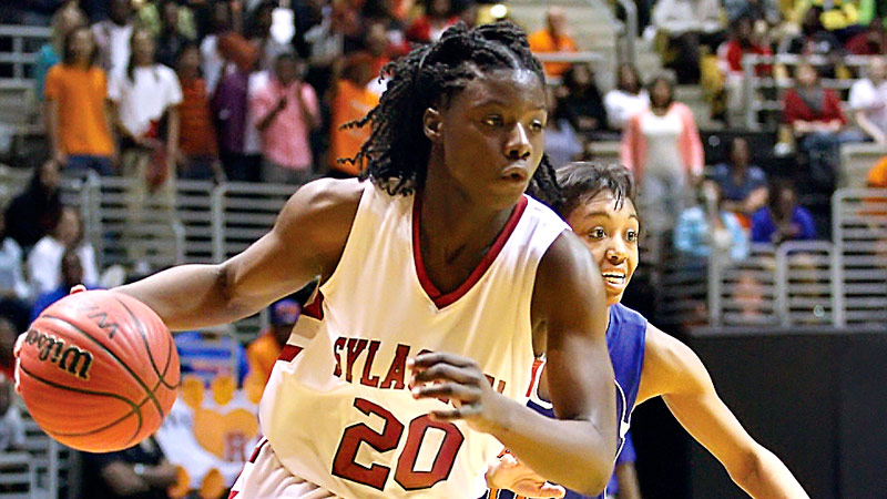Shakayla Thomas of Alabama is taking her high-scoring and high-rebounding game to Florida State.