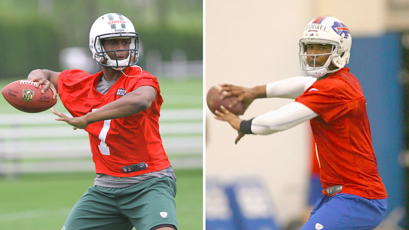 Geno Smith and E.J. Manuel