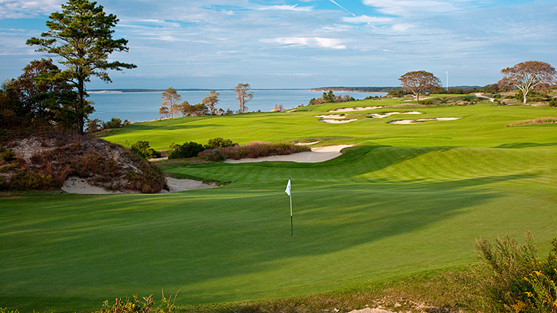 Sebonack Golf Club is situated in Southampton, N.Y., and offers exquisite views of the Great Peconic Bay.