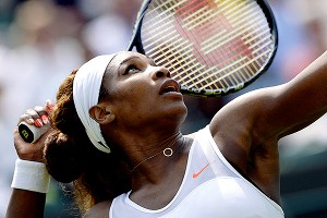 Serena Williams had little trouble dispatching Caroline Garcia in the second round, winning 6-3, 6-2.