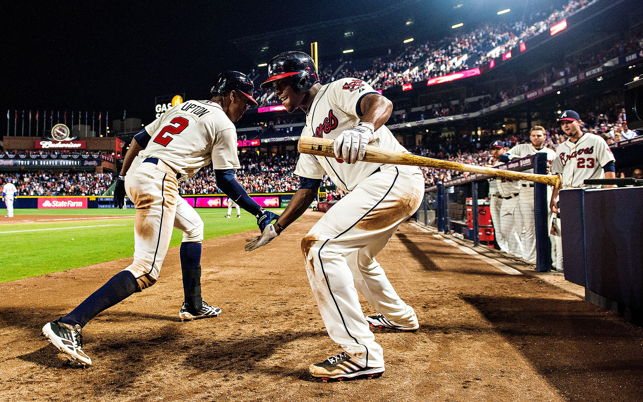 Upton brothers homer in 9th