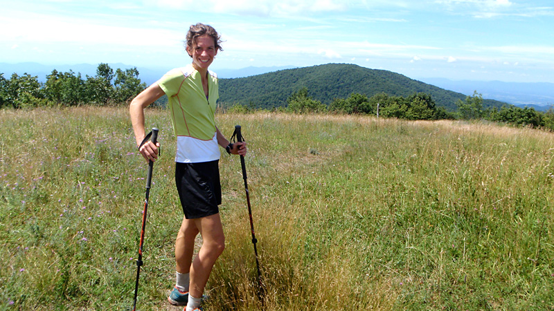 Jennifer Pharr Davis set a speed record for a supported thru-hike of the Appalachian Trail by finishing in 46 days, 11 hours and 20 minutes.