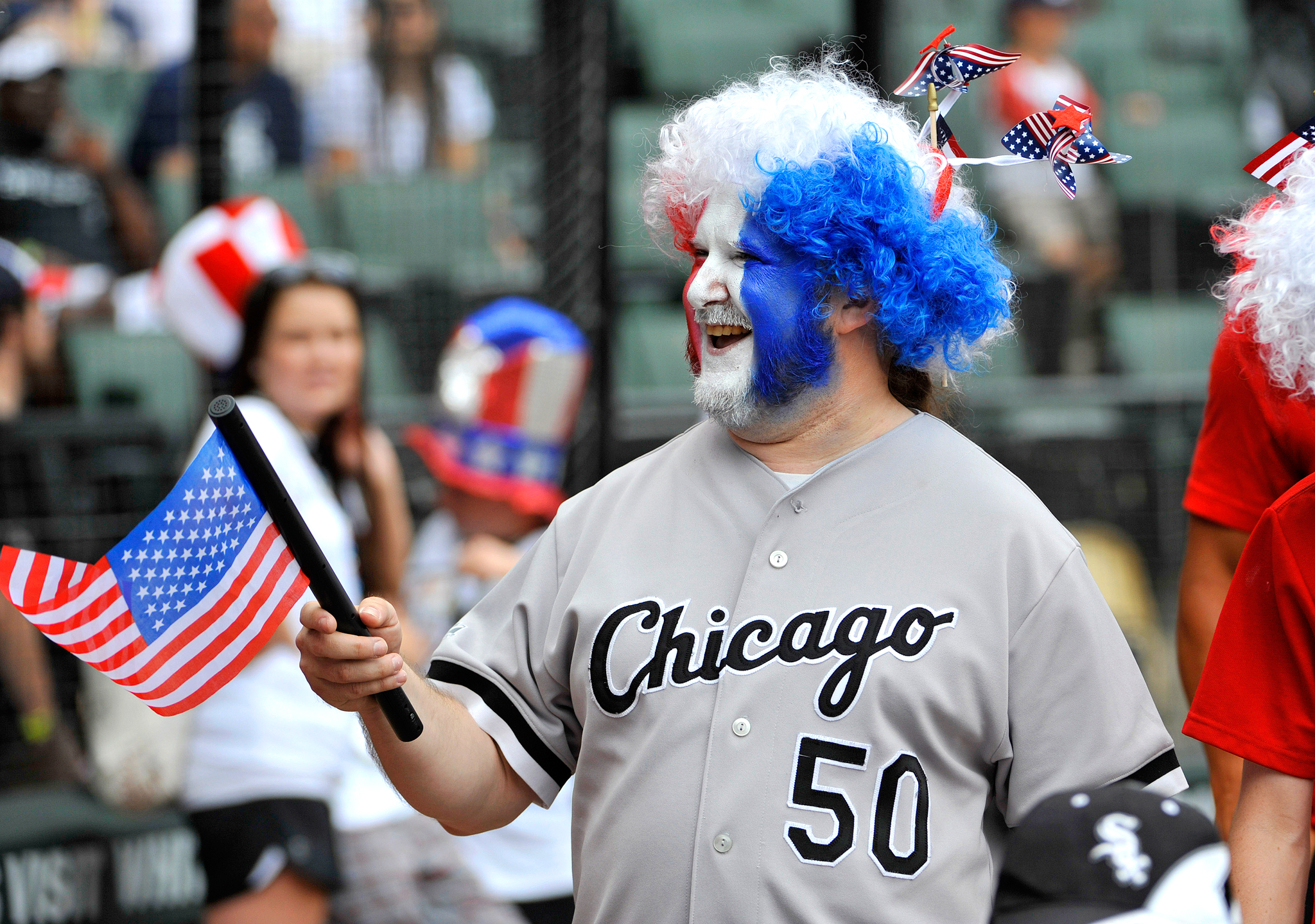 White Sox fan on the 4th of July