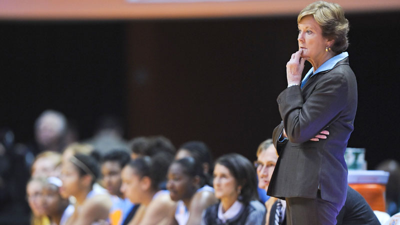 With 1,098 career victories, Pat Summitt is the winningest coach in NCAA Division I basketball history. Named the head coach at Tennessee in 1974 when women's college basketball was yet to be recognized by the NCAA, Summitt turned the Lady Vols into a national power. The team won its first national championship in 1987 and, under Summitt's leadership, the program won seven more titles before her retirement due to early-onset Alzheimer's disease in 2012. During her 38-year career, Summitt helped transform women's basketball from a club sport to one of the most popular sports in America.
