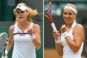 Agnieszka Radwanska, left, and Sabine Lisicki are tied 1-1 as professionals, but the two Europeans grew up playing each other as juniors.