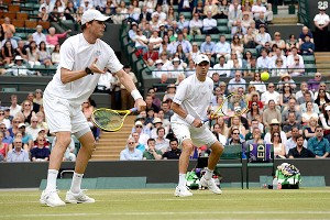 The Bryan brothers are now a win away from their third Wimbledon title.
