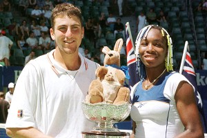 Venus Williams chose Justin Gimelstob as a mixed doubles partner and the pair won the Australian and French opens in 1998, his only two Grand Slam titles.