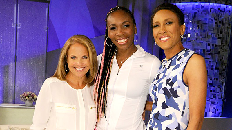 Katie Couric, Venus Williams, Robin Roberts