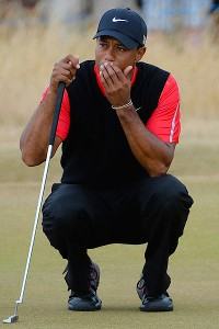 Tiger Woods blamed his inability to gauge the speed of the greens as the reason he's not holding the Claret Jug.