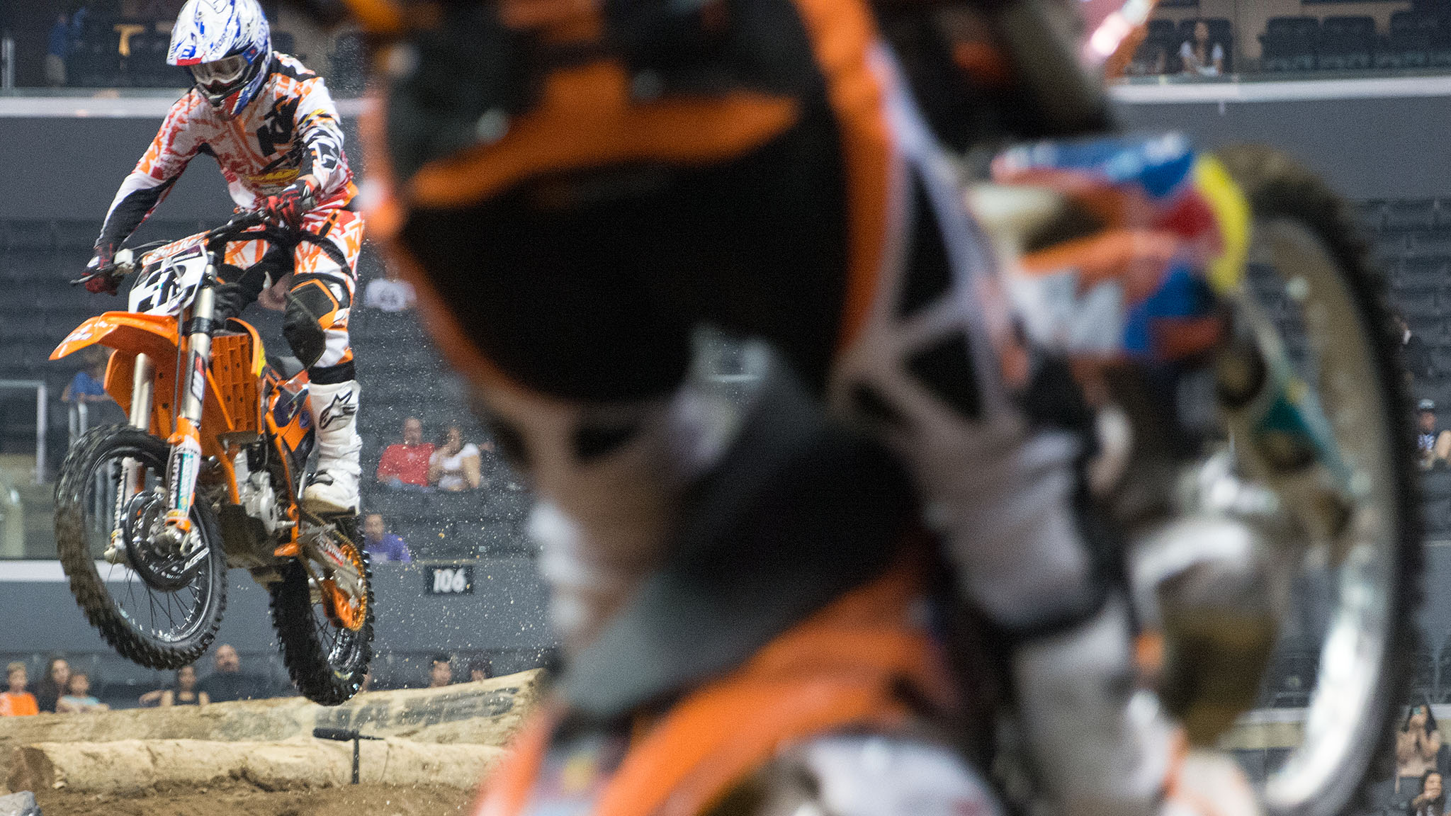 Enduro X has become one of the most hotly contested events of the X Games this year. Taddy Blazusiak and Mike Brown (shown here) have gone back and forth for the win since Enduro X first debuted at X Games in 2011. In L.A., Blazusiak took the gold.