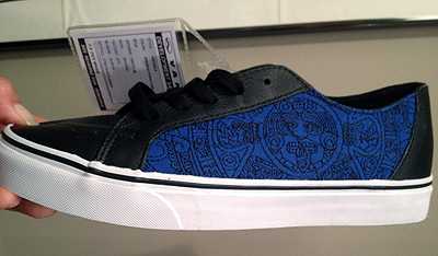 Vans modified the Aztec calendar design Chlo wood-burned into one of her husband's guitars and found new expression for it on a shoe.